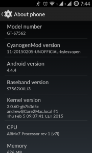 Screenshot GT-7562 with CM11